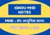 IGNOU MHD 01 Notes