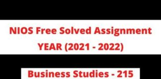 Business Studies 2015 Free Solved Assignment 2021 - 22